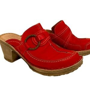 Josef Seibel red leather shoes